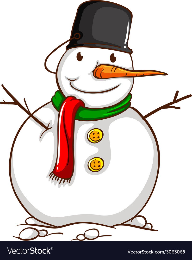 A sketch of a snowman vector | Price: 1 Credit (USD $1)