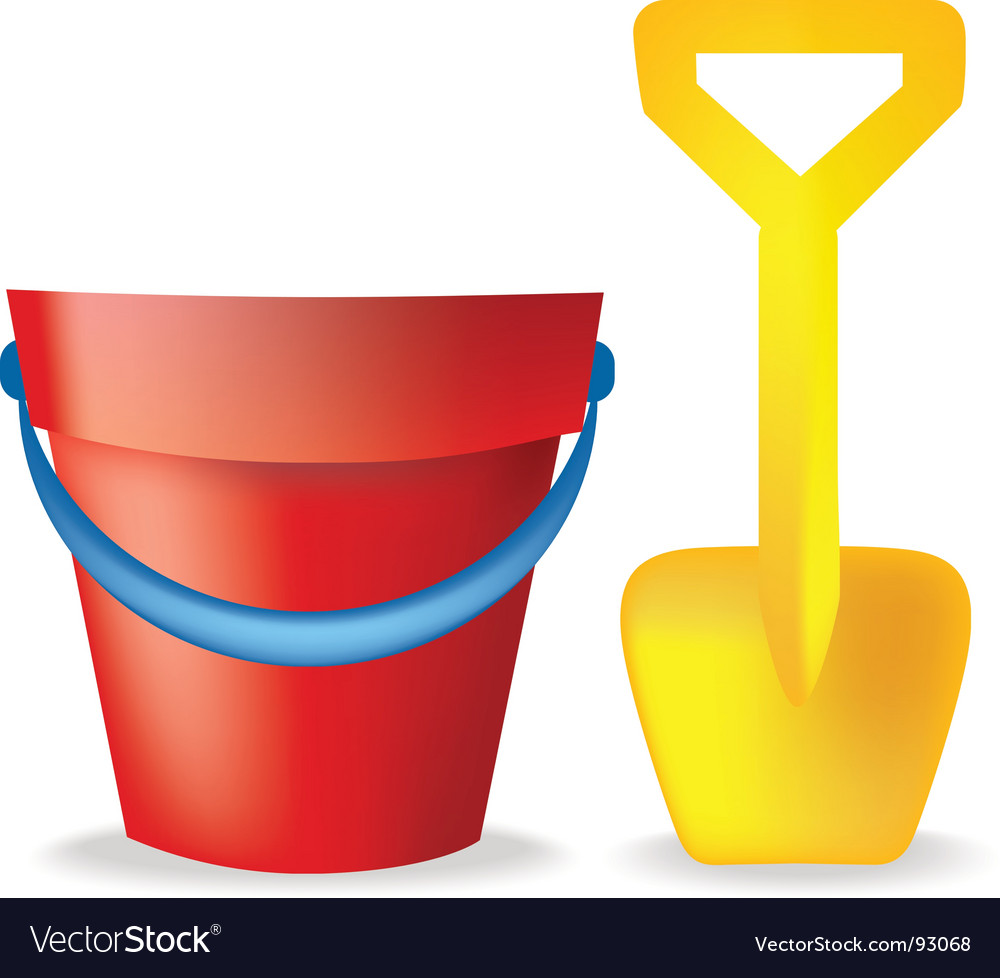 Bucket and spade vector | Price: 1 Credit (USD $1)