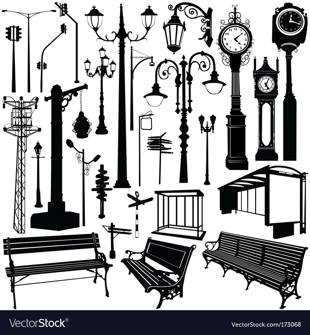 City objects traced vector | Price: 1 Credit (USD $1)