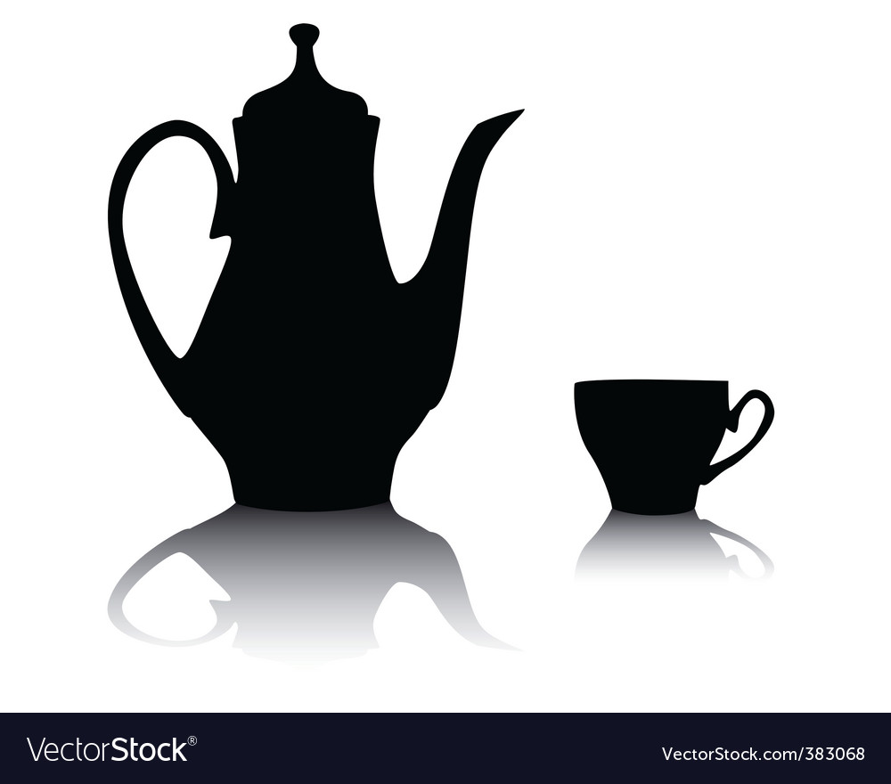 Coffee pot and cup vector | Price: 1 Credit (USD $1)