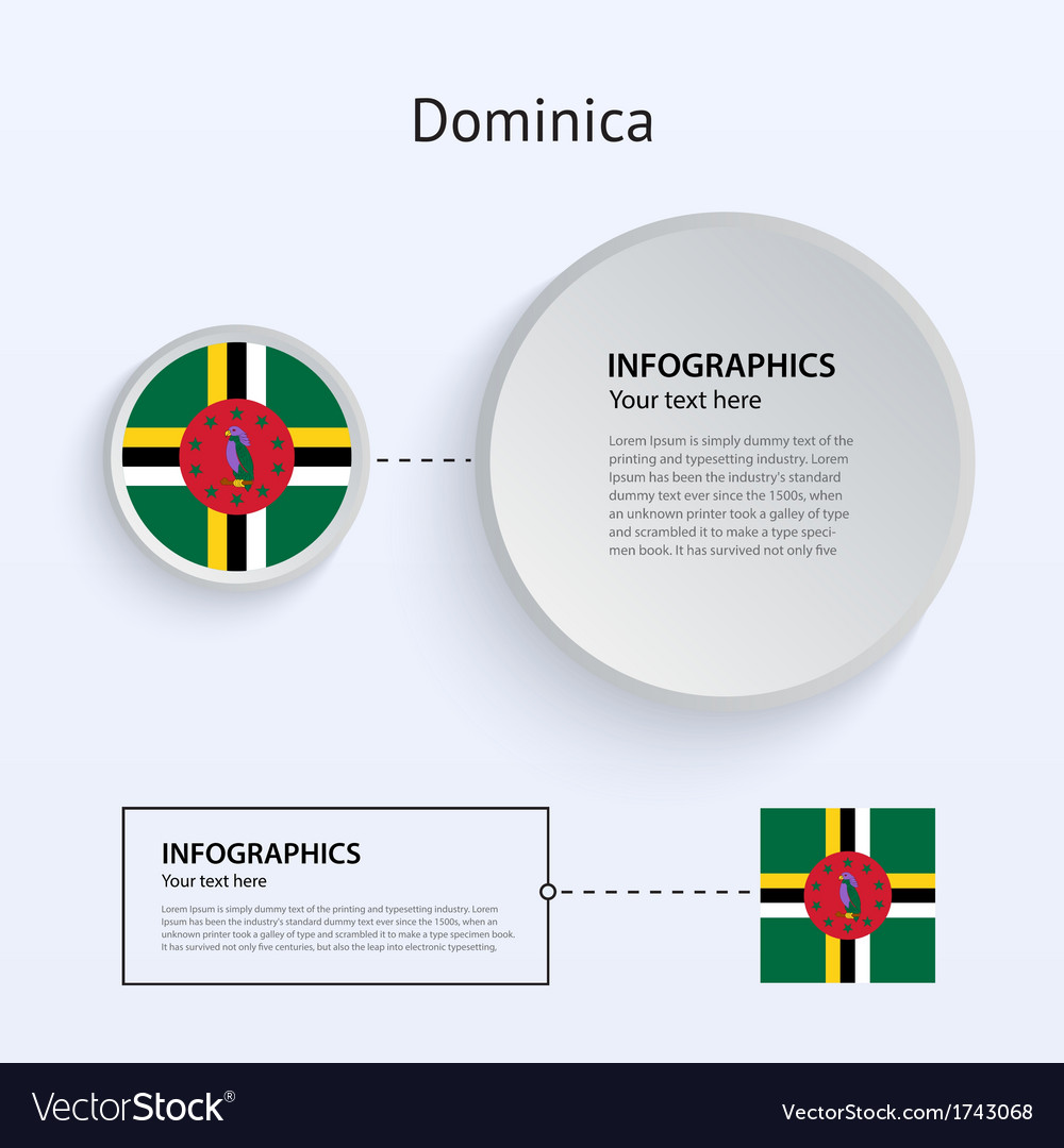 Dominica country set of banners vector | Price: 1 Credit (USD $1)