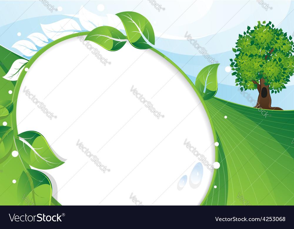Eco concept background vector | Price: 3 Credit (USD $3)