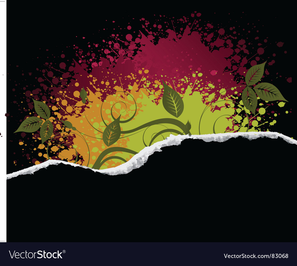 Floral bloom grunge vector | Price: 1 Credit (USD $1)