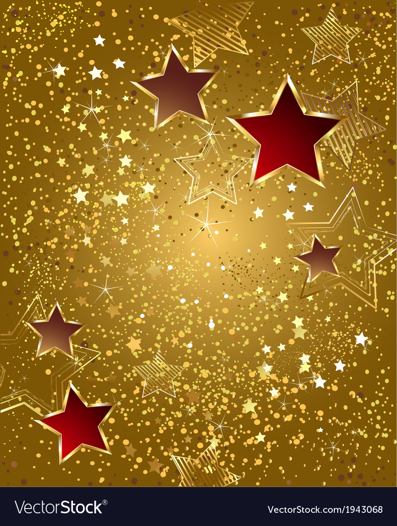 Gold foil with stars vector | Price: 1 Credit (USD $1)