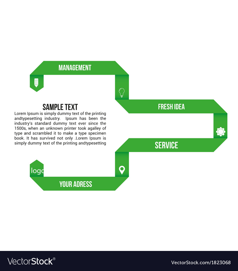 Green infographic elements vector | Price: 1 Credit (USD $1)