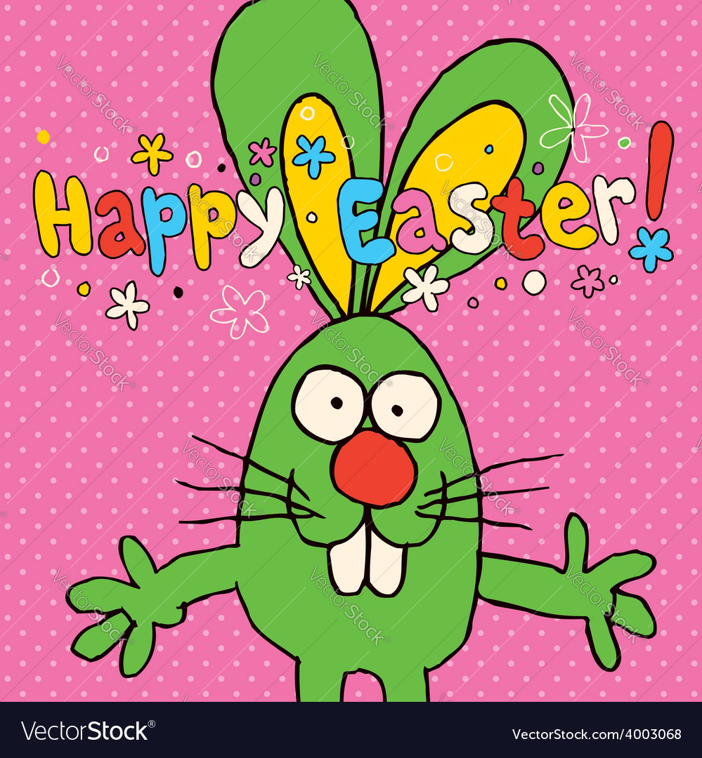 Happy easter card 5 vector | Price: 1 Credit (USD $1)