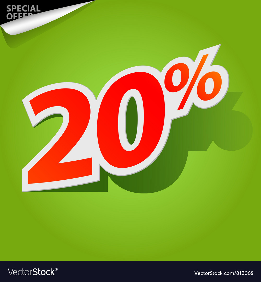 Label percent vector | Price: 1 Credit (USD $1)
