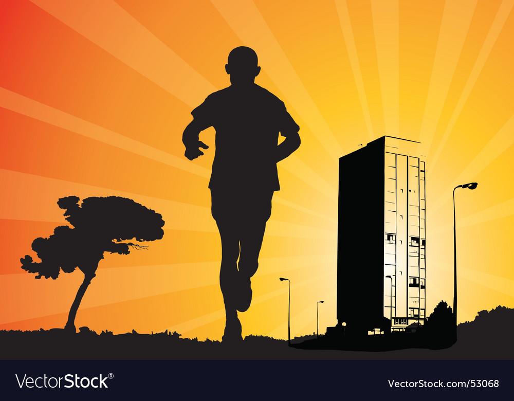 Man jogging vector | Price: 1 Credit (USD $1)