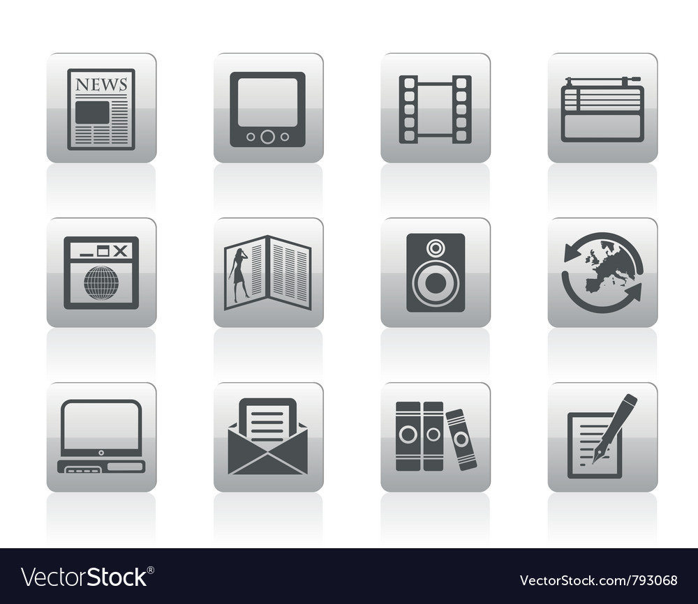 Media and information icons vector | Price: 1 Credit (USD $1)