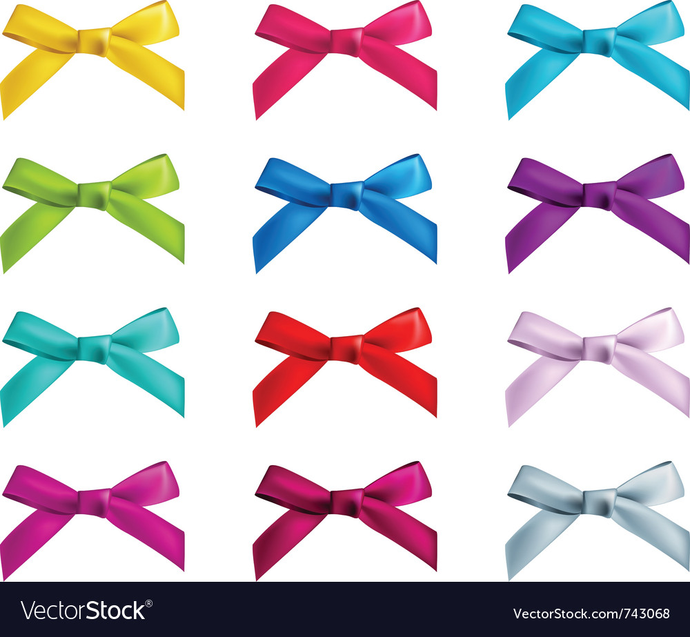 Ribbon bows vector | Price: 1 Credit (USD $1)