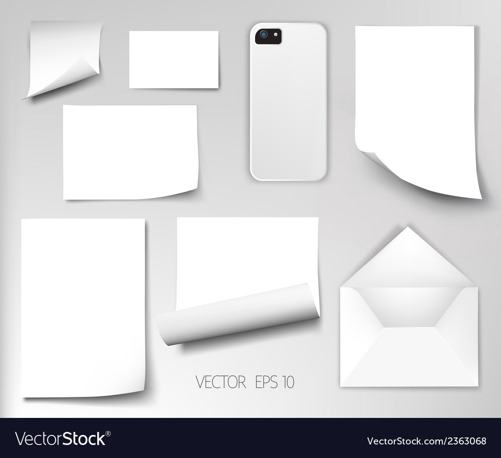 Sheets of paper wrapped template design vector | Price: 1 Credit (USD $1)
