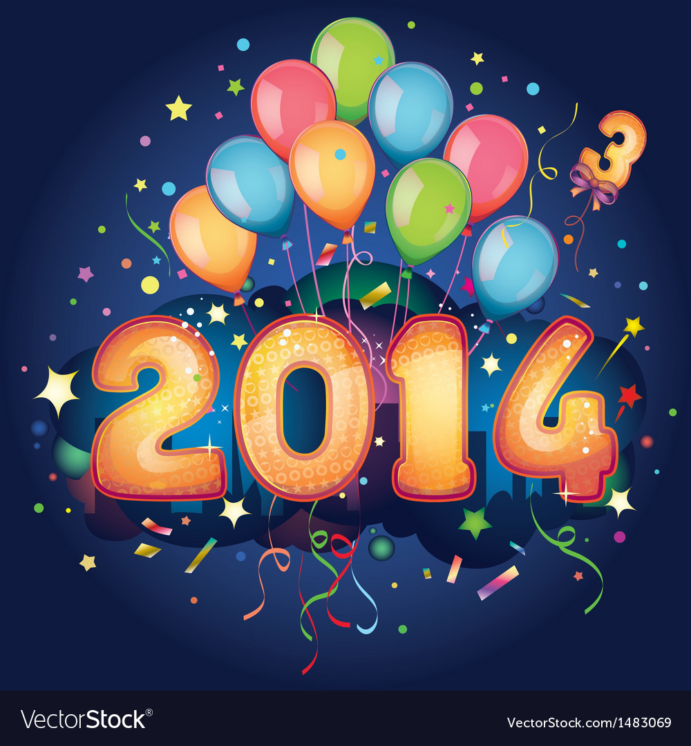 2014 new year vector | Price: 3 Credit (USD $3)