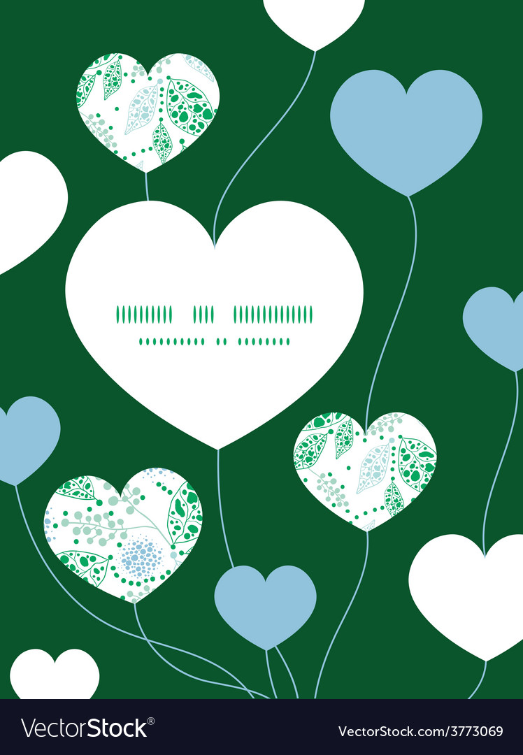 Abstract blue and green leaves heart symbol vector   Price: 1 Credit (USD $1)