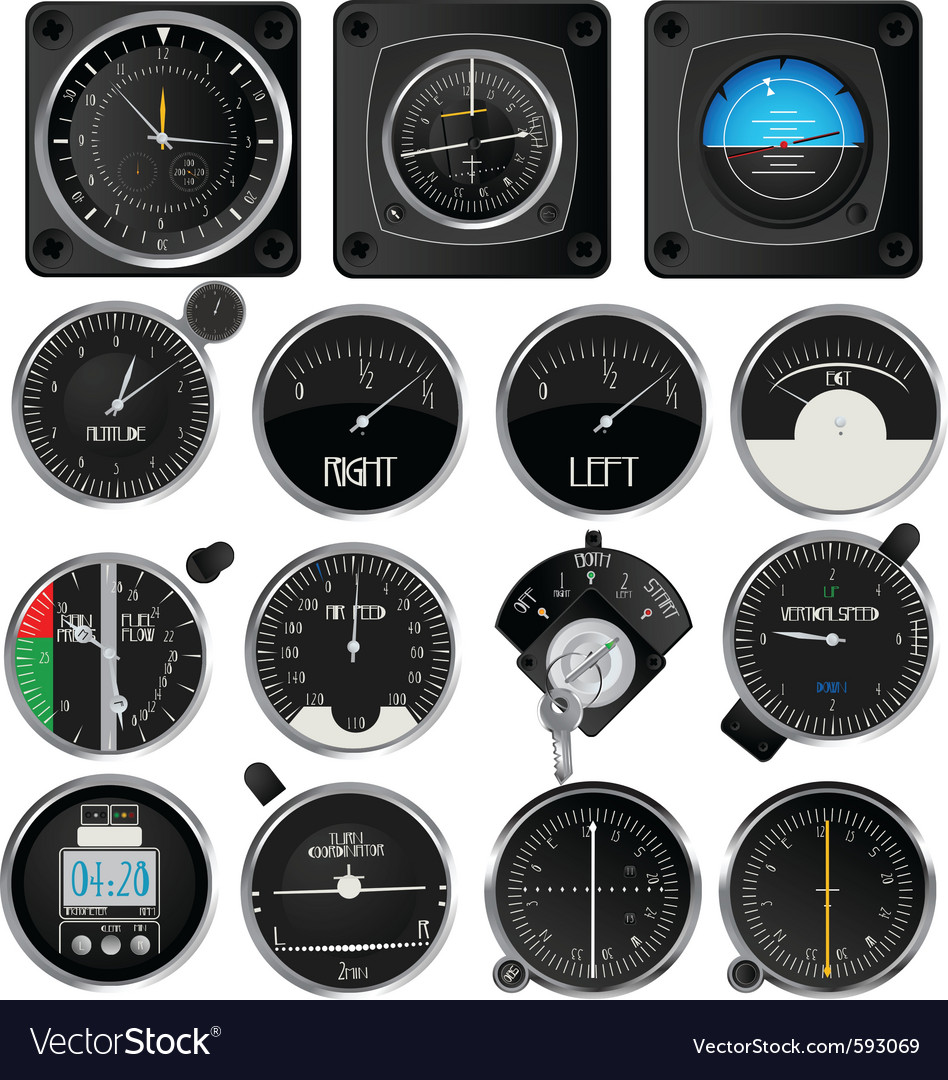 Aircraft instruments vector | Price: 3 Credit (USD $3)