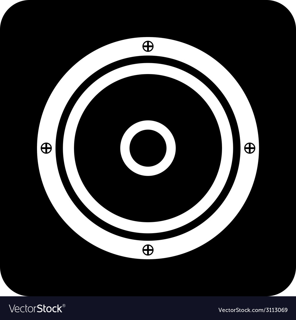 Audio speaker icon vector | Price: 1 Credit (USD $1)