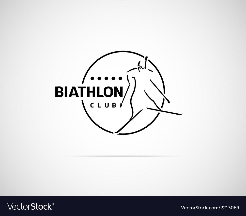 Biathlon emblem vector   Price: 1 Credit (USD $1)