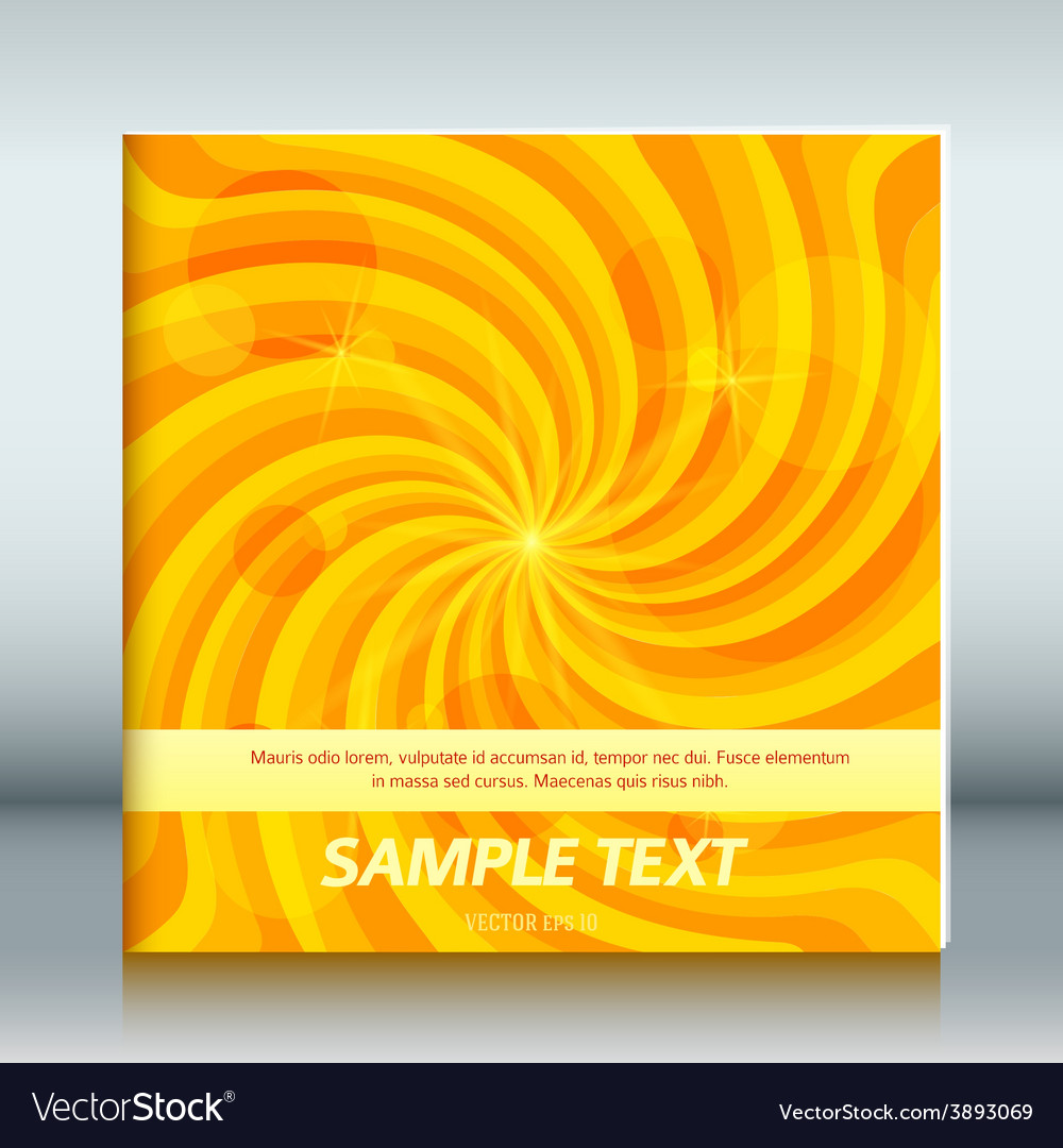 Cover page template brochure background vortex joy vector | Price: 1 Credit (USD $1)