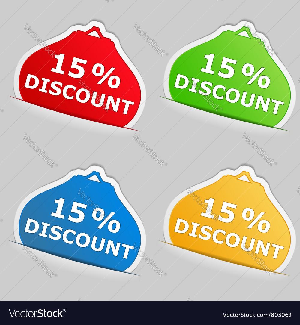 Discount stickers vector | Price: 1 Credit (USD $1)
