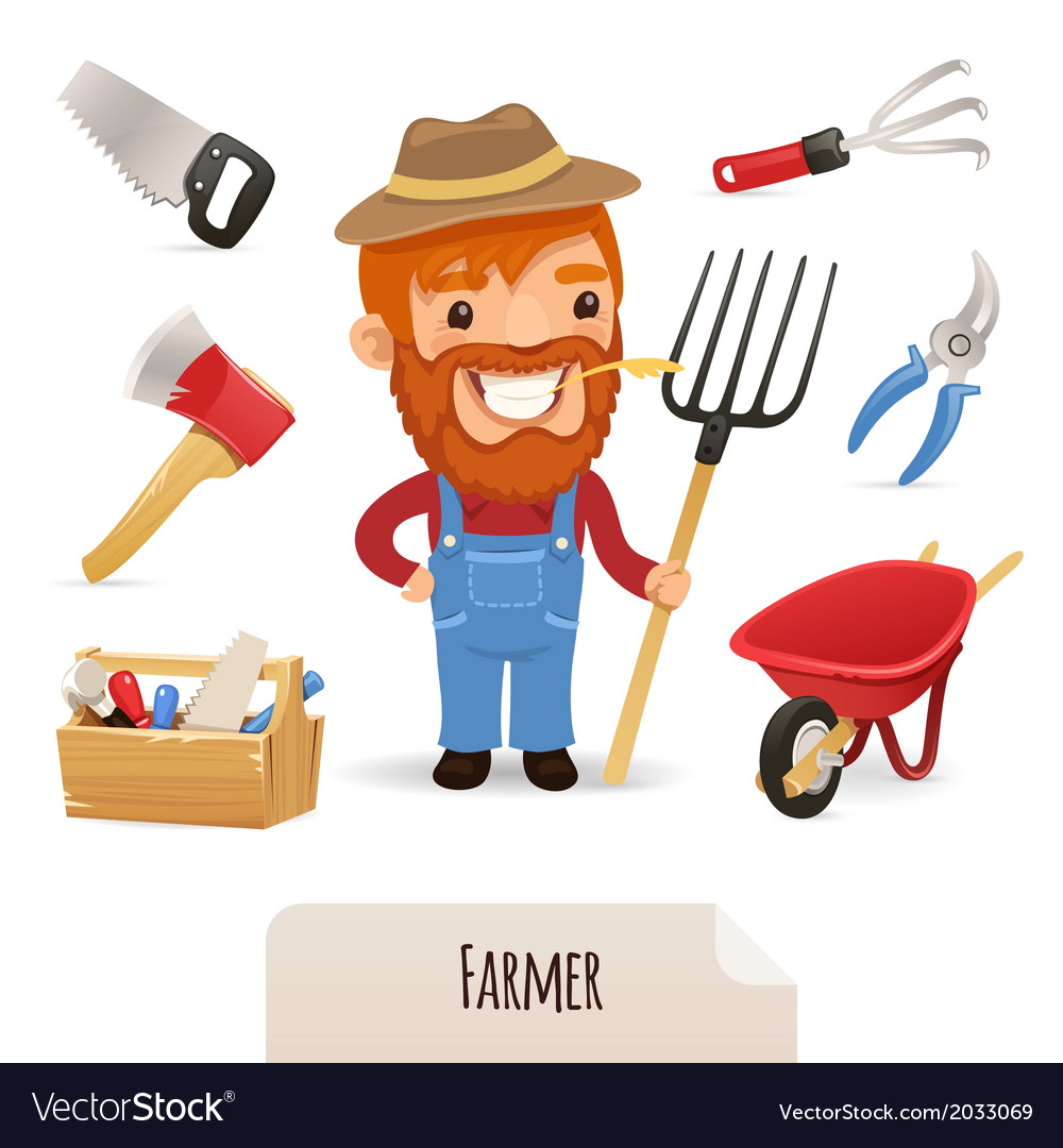 Farmer icons set vector | Price: 1 Credit (USD $1)