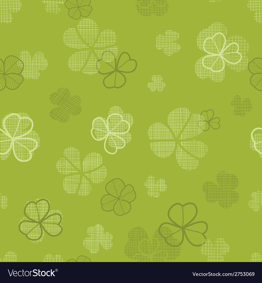 Green clover textile texture seamless pattern vector | Price: 1 Credit (USD $1)