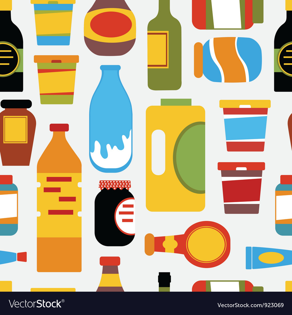 Grocery seamless pattern vector | Price: 1 Credit (USD $1)