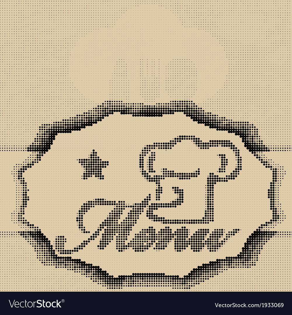 Halftone menu vector | Price: 1 Credit (USD $1)