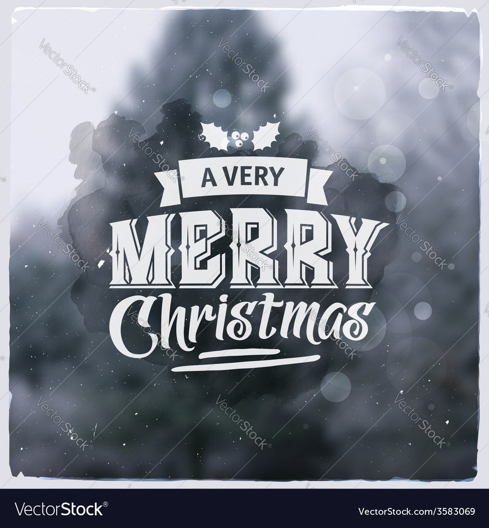 Merry christmas creative graphic message for vector | Price: 1 Credit (USD $1)