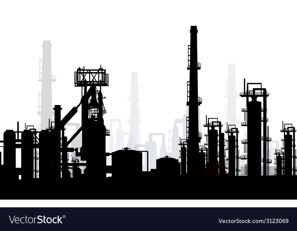 Oil and gas refinery vector | Price: 1 Credit (USD $1)