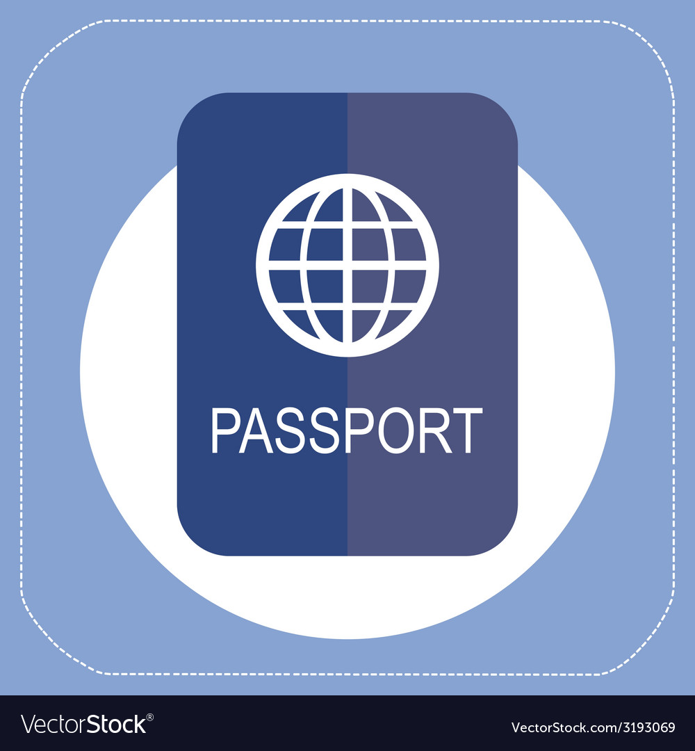 Passport icon flat vector | Price: 1 Credit (USD $1)