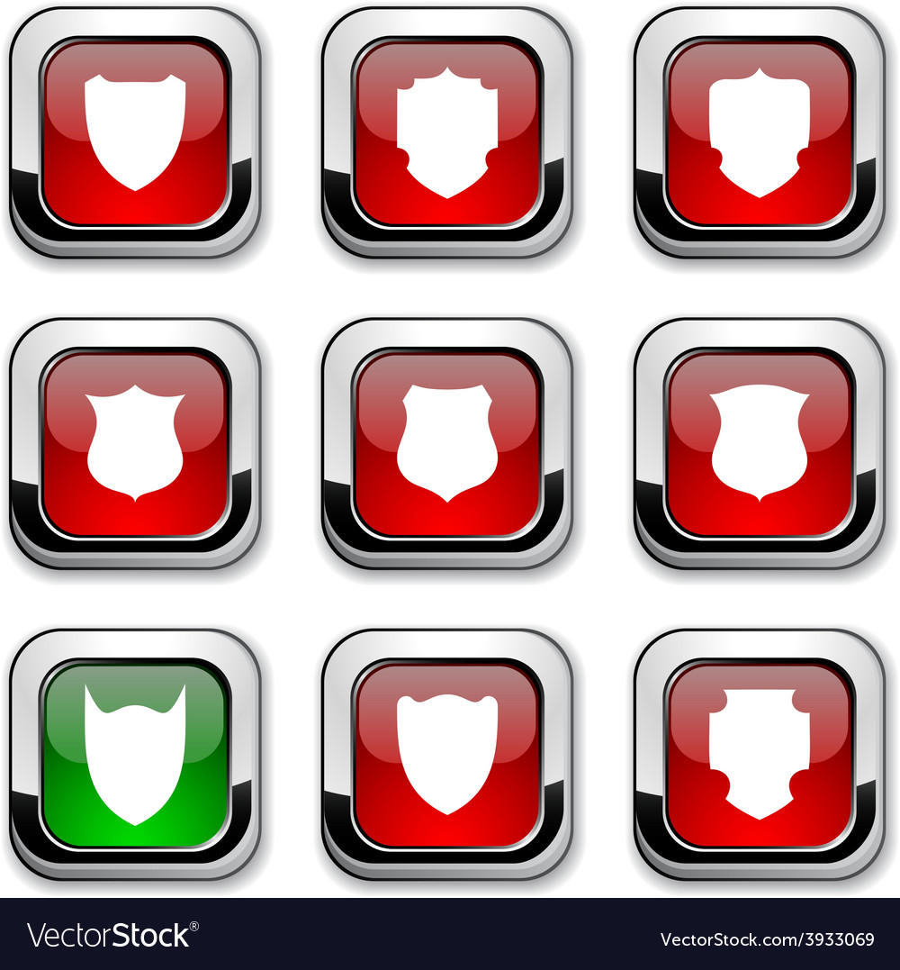 Shield icons vector | Price: 1 Credit (USD $1)