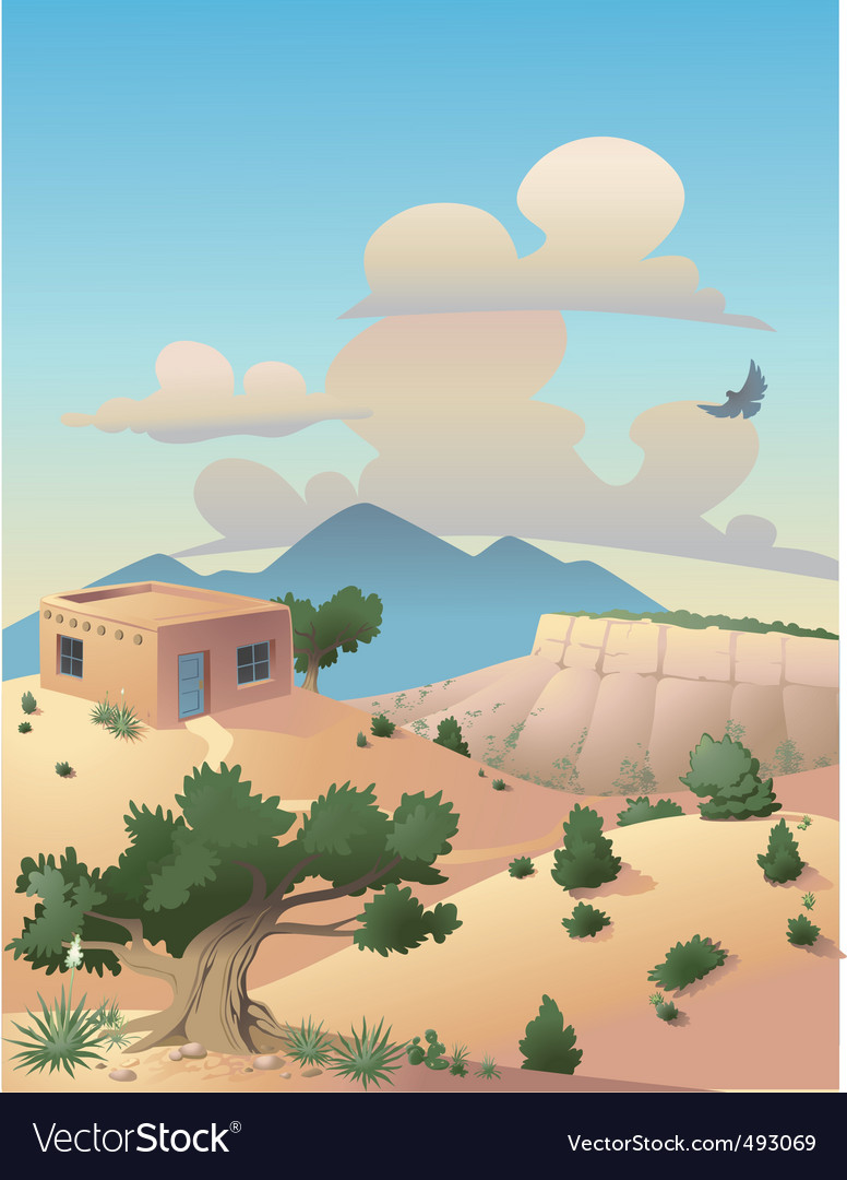 Southwestern desert vector | Price: 3 Credit (USD $3)