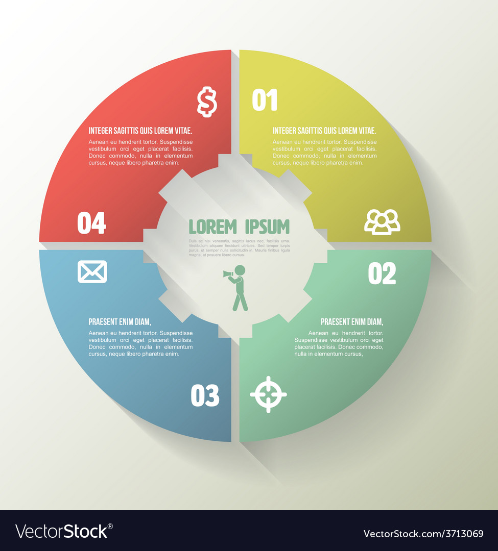 Template for your business presentation with text vector | Price: 1 Credit (USD $1)