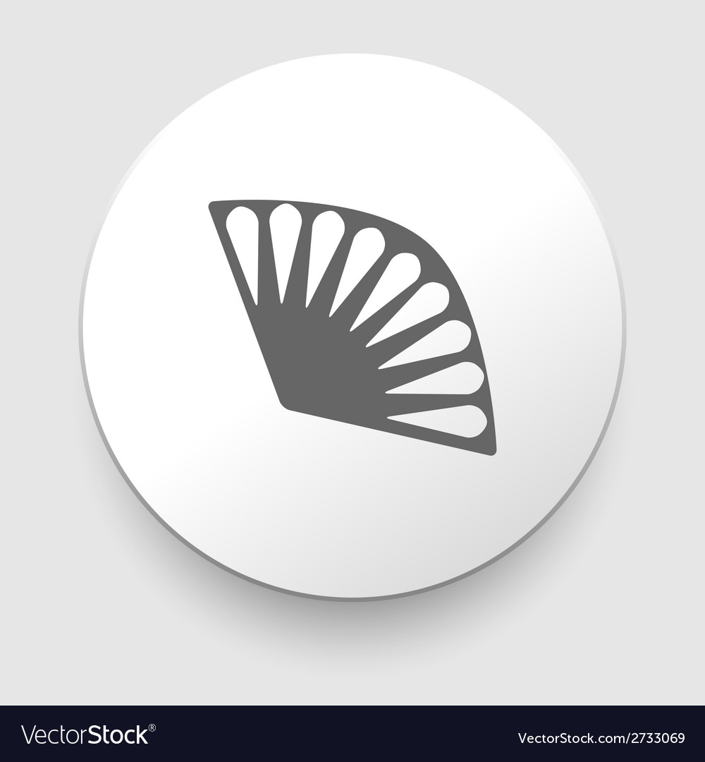 Vintage fan icon on white background vector | Price: 1 Credit (USD $1)