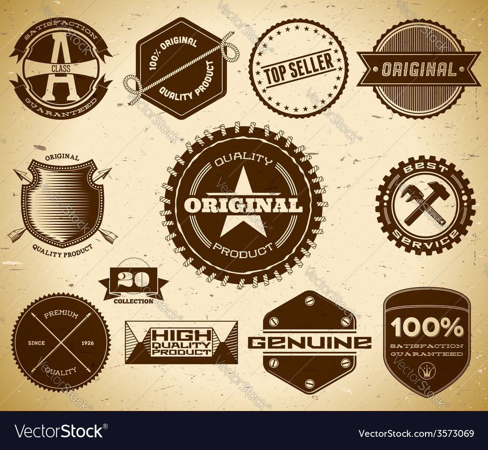 Vintage labels collection 20 vector | Price: 1 Credit (USD $1)