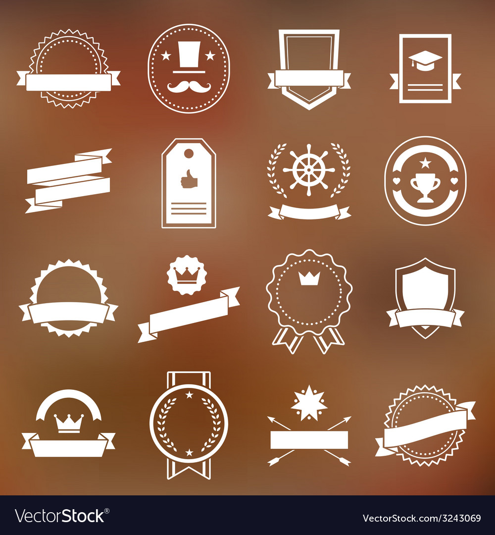 Vintage retro flat badges labels vector | Price: 1 Credit (USD $1)