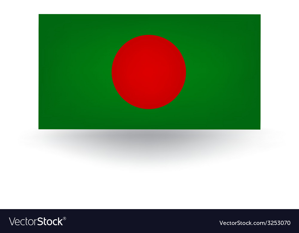 Bangladesh flag vector | Price: 1 Credit (USD $1)