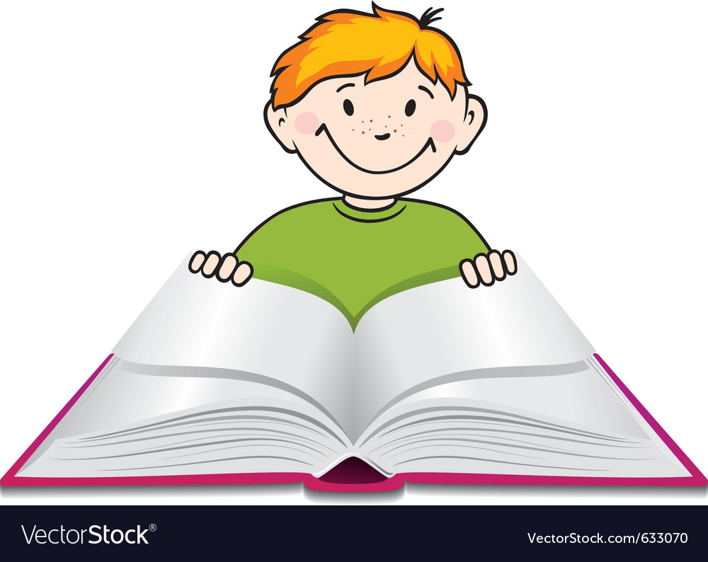 Child reading vector | Price: 1 Credit (USD $1)