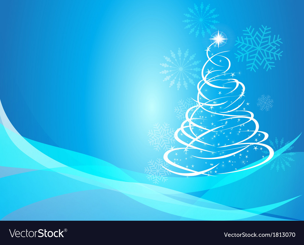 Christmas curve tree background vector | Price: 1 Credit (USD $1)