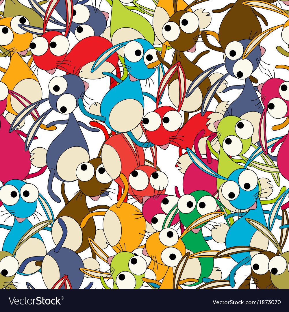 Dancing rabbits pattern vector | Price: 1 Credit (USD $1)