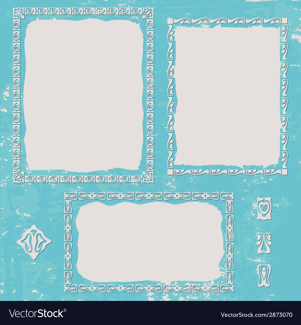 Frames set vintage vector | Price: 1 Credit (USD $1)