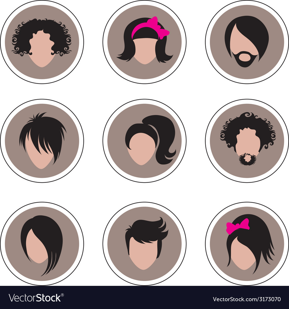 Hair pics 3 vector | Price: 1 Credit (USD $1)