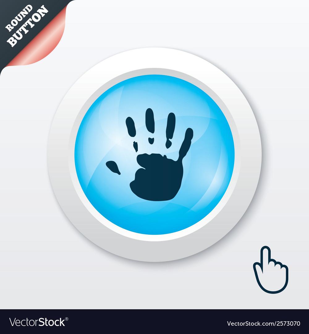 Hand print sign icon stop symbol vector   Price: 1 Credit (USD $1)