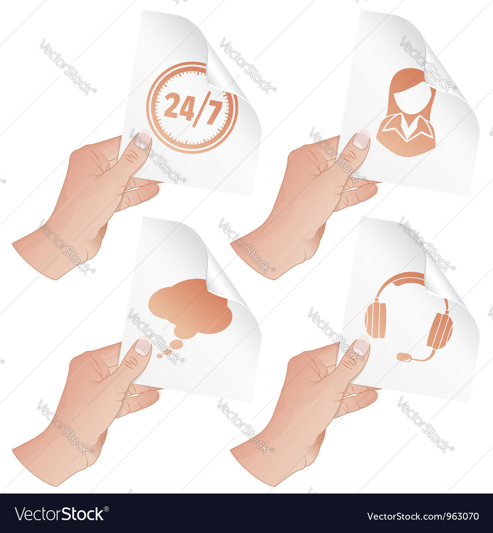 Hand with business icons vector | Price: 3 Credit (USD $3)