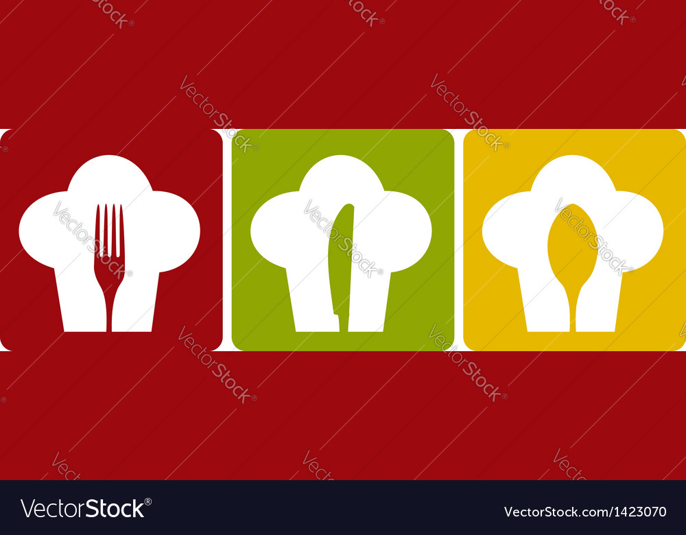 Icon chef restaurant set pattern vector | Price: 1 Credit (USD $1)