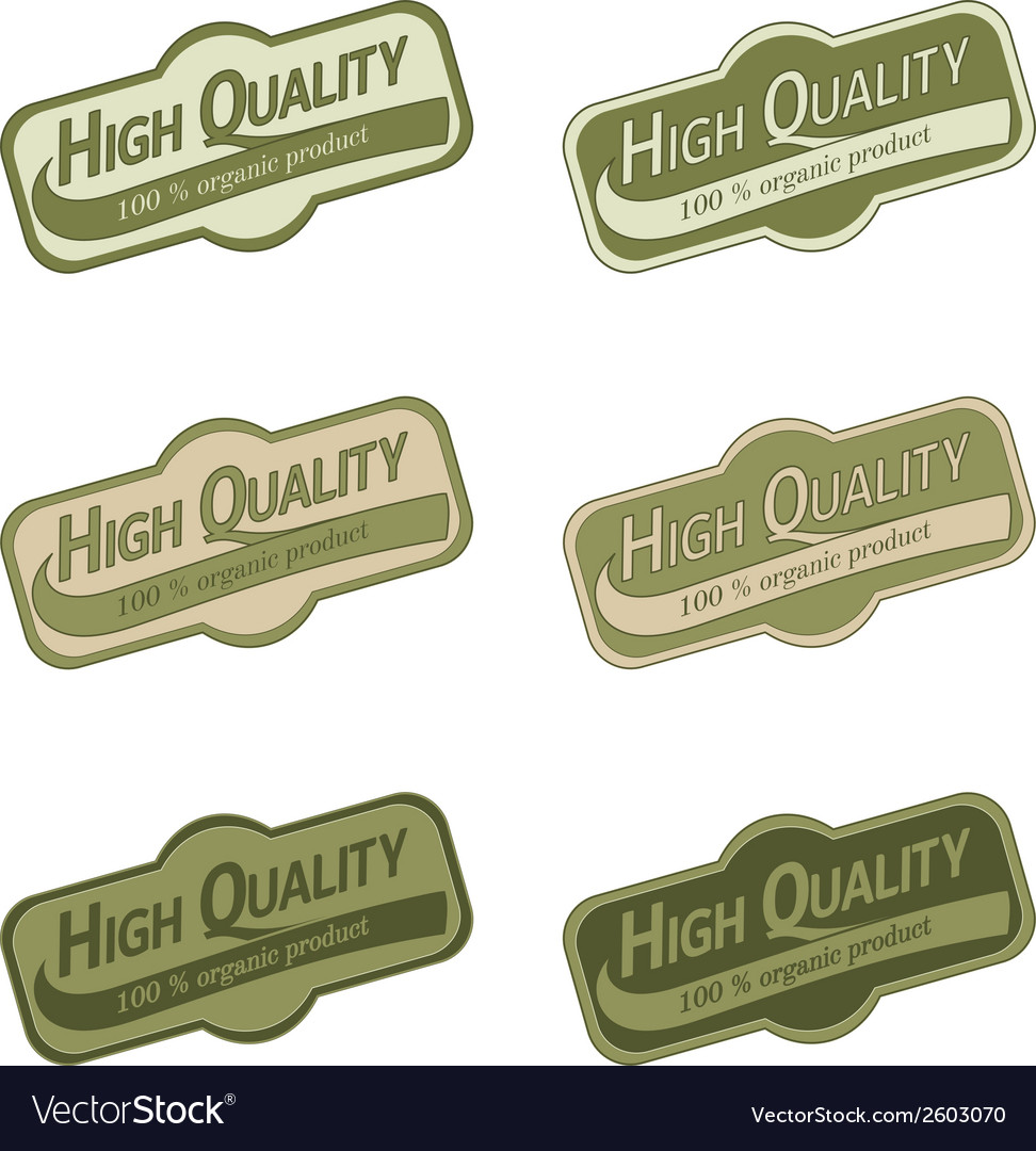 Labels set for organic products vector | Price: 1 Credit (USD $1)