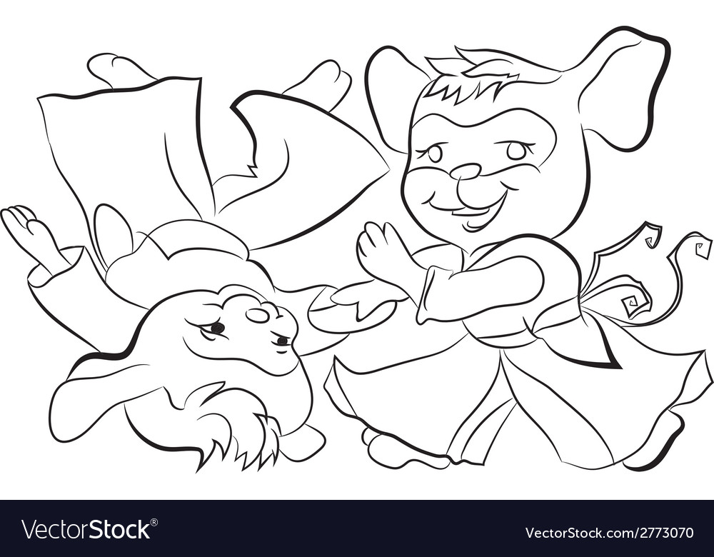 Little mouse boy aikido sketch vector | Price: 1 Credit (USD $1)