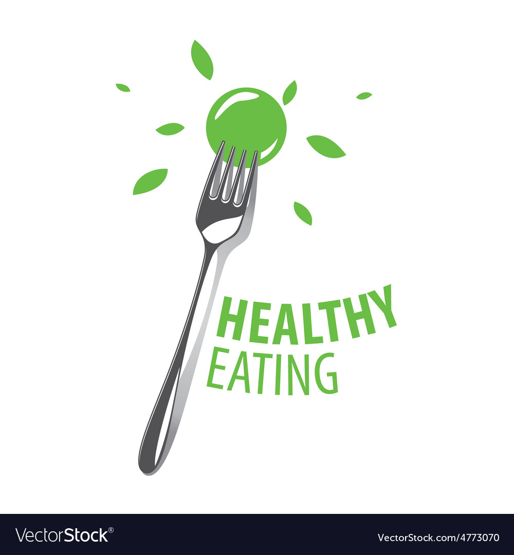 Logo fork for a healthy diet vector | Price: 1 Credit (USD $1)