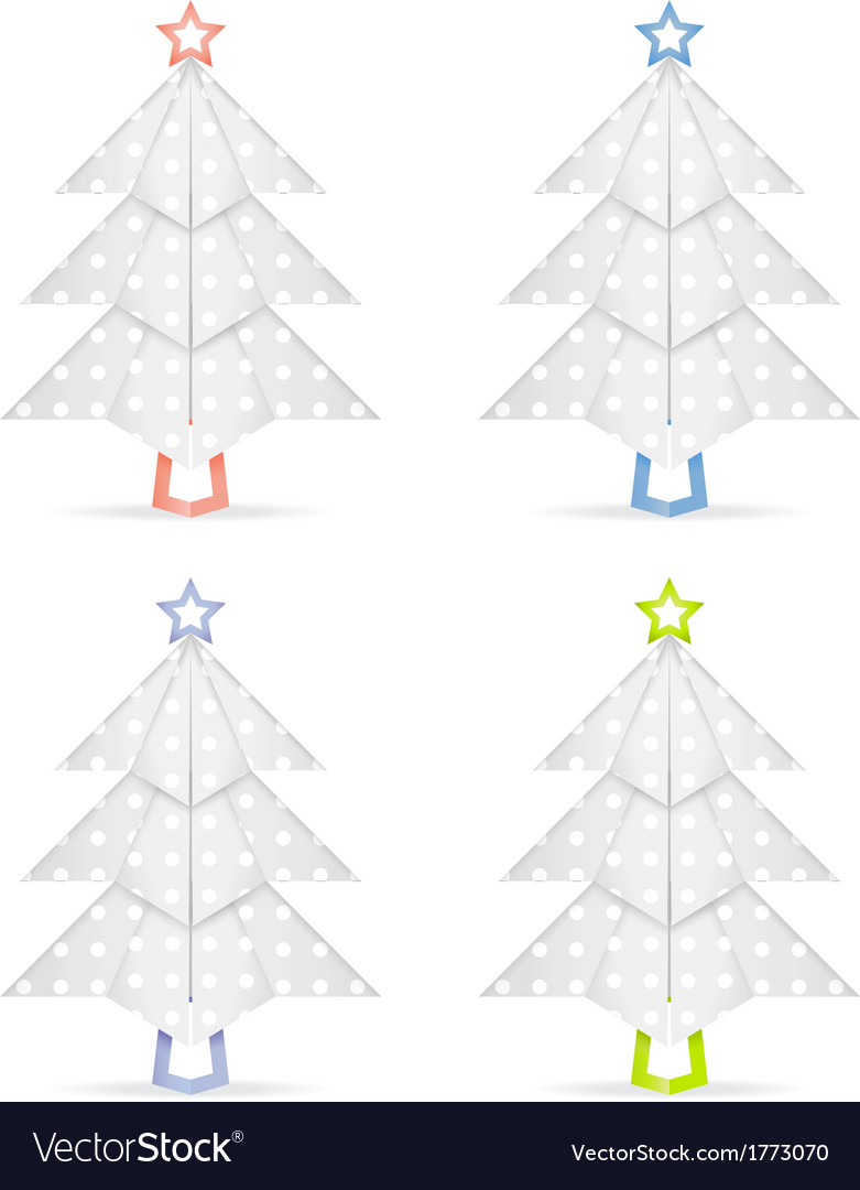 Origami christmas trees vector | Price: 1 Credit (USD $1)