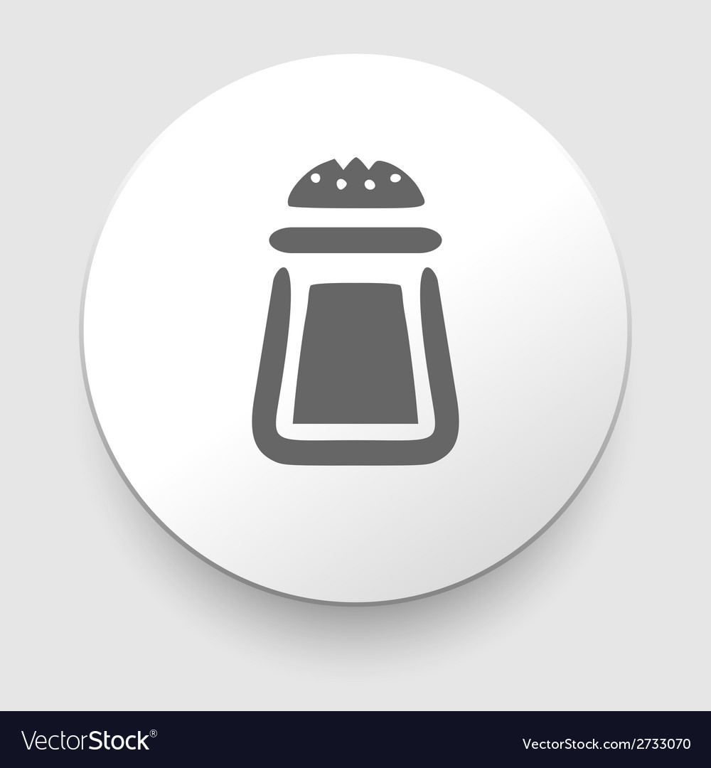 Salt or pepper symbol vector | Price: 1 Credit (USD $1)