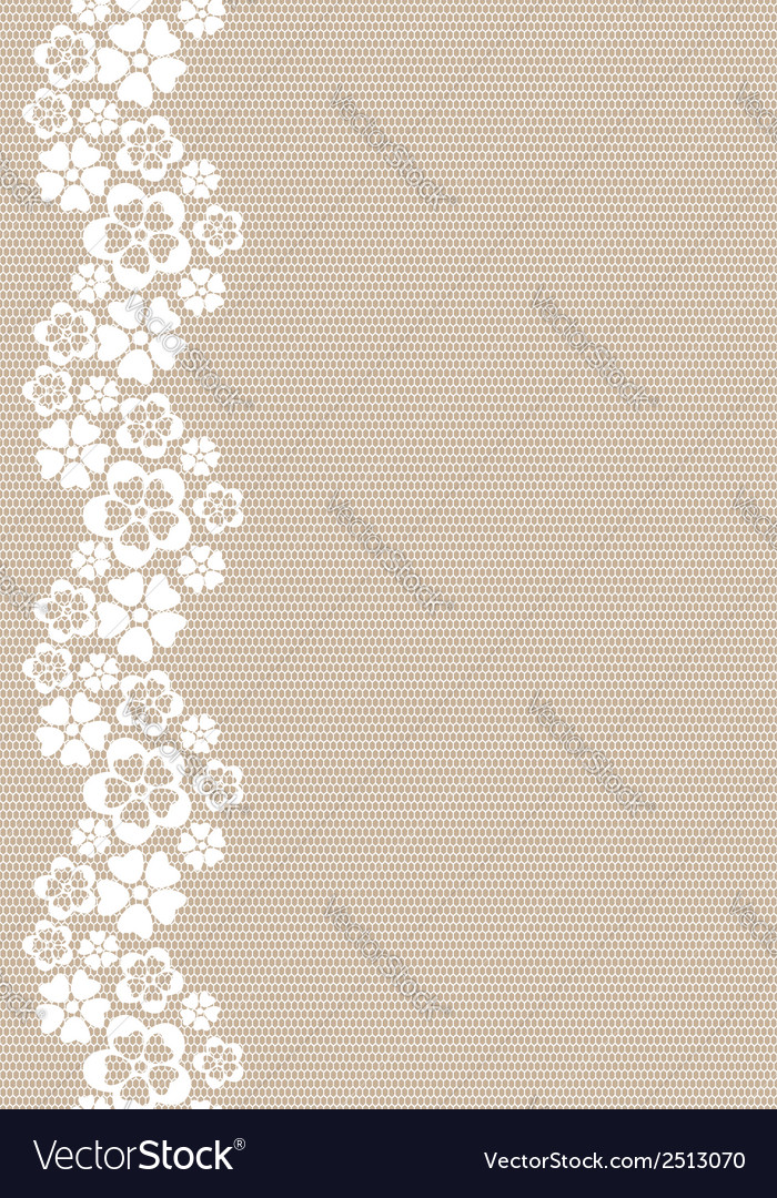 Vertical white lacy flower border vector | Price: 1 Credit (USD $1)